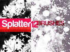 SPLATTERS12-  brush set by hugorr.deviantart.com on @deviantART Free Photoshop, Photoshop Brushes, Photoshop Tutorial, Grunge, Ink Splatter, Shops, Paint Brushes, Brush Set, Deviantart