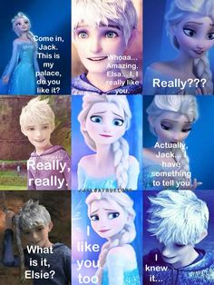 Jack Frost and Elsa, they would make such a cute couple! Description from pinterest.com. I searched for this on bing.com/images