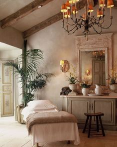 Spa room with style French Country Cottage Decor Massage Room Decor, Spa Room Decor, Massage Therapy Rooms, Massage Room Design, Home Spa Room, Massage Table, Country Style Living Room, French Country Style, French Country Decorating