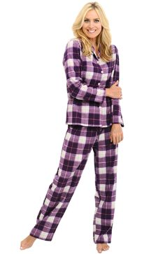 f11939db7b Del Rossa Women s 100% Cotton Flannel Pajama Set - Long Pjs