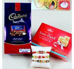 Rakhis with Chocolate and Sweets