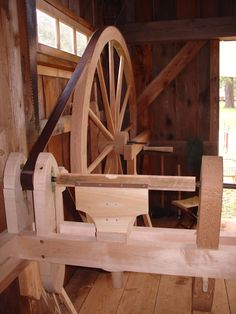 Great wheel lathe - Matthew D. SteinMatthew D. Wood Turning Lathe, Wood Lathe, Plane Tool, Water Wheels, Richard Iii, Woodturning, Tool Box, Carpentry, Wood Working
