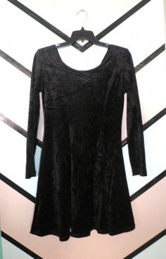 Long Sleeve Velvet Dress by DCXSpringfield on Etsy, $45.00