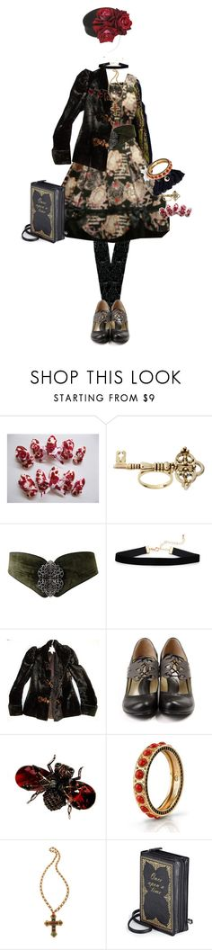 """Attic Witch"" by sakuuya ❤ liked on Polyvore featuring House of Harlow 1960, John Fluevog, Alexander McQueen and WGACA"