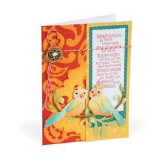Imagination Love Birds Card by Debi Adams.