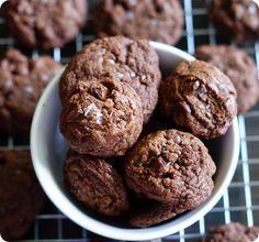 Nutella Chocolate Chip Sea Salt-Sprinkled Cookies ::: bake at 350 blog