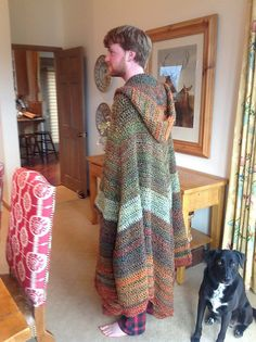 This Hooded Cloak pattern by Dillon Ekle is great for Halloween or Renaissance Faire. Crochet it with our Homespun yarn!
