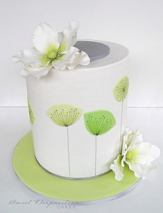 Inspired by the 'dandelion clocks' wallpaper designs of the '50s, by Sweet Disposition Cakes