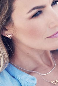 Gorjana Jewelry 2015 'Flamingo Studs' Earrings | The Orchid Boutique