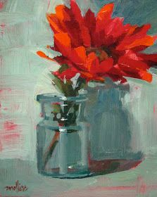 Paintings by Patti Mollica: Painting Demos, again