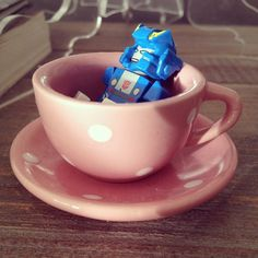 Good Morning!!! Found this on my bed side table when I woke...looks like my little boy has raided Jenny Bear's tea set!!! He said, I made tea for you Mummy! Ahhh this is Love!! :D #teacup #lego #tea #toy