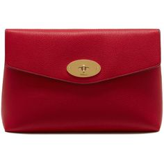 Mulberry Large Darley Cosmetic Pouch ($450) ❤ liked on Polyvore featuring beauty products, beauty accessories and bags & cases