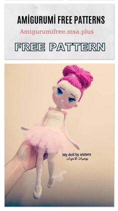 We bring you all kinds of sharing about Amigurumi. In this article we are waiting for you from each other beautiful amigurumi doll free patterns. Doll Amigurumi Free Pattern, Crochet Amigurumi Free Patterns, Crochet Animal Patterns, Crochet Doll Pattern, Amigurumi Doll, Crochet Motif, Crochet Toys, Free Crochet, Balerina
