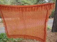 Vintage Lace Curtains  Rusty Dark by NopalitoVintageMore on Etsy, $40.00