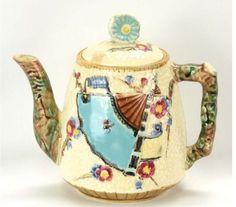 Fielding Majolica Fan and prunus Coffee, Tea Pot