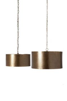 Hammered Pendant Light Fixture - Brass