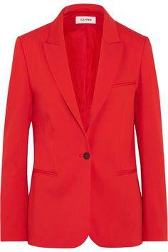 CEFINN Stretch-twill blazer. #cefinn #cloth #jackets Stretches, Wool, Blazer, Satin, Fabric, Sweaters, Pants, Jackets, T Shirt