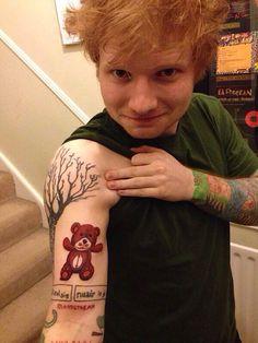 Ed Sheeran's new tattoo. Teddy