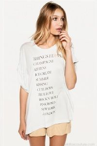 Wildfox Couture Things I Love Boy Tee www.hintboutique.com