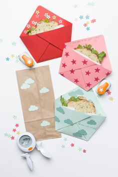 Send your kids back to school with these cute sandwich pockets in their lunch box! Add a note to let them know you're thinking of them on their first day.
