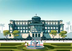 Pavillon Gazon - illustrations on Behance