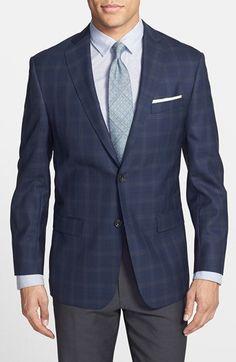 Michael Kors Trim Fit Plaid Wool Sport Coat | Nordstrom