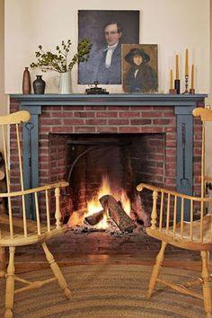 New York Farmhouse Fireplacecountryliving