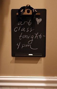 Some pretty neat chalkboard ideas clipboards painted with some pretty neat chalkboard ideas clipboards painted with chalkboard paint and paint stirring sticks partially painted wchalkboard p solutioingenieria Choice Image