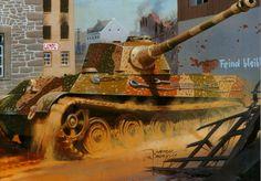 Desenhado Tanque  Exército