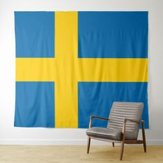Sweden flag tapestry - home gifts ideas decor special unique custom individual customized individualized Customized Gifts, Personalized Gifts, Sweden Flag, Flag Decor, Home Gifts, Special Gifts, Vivid Colors, Picnic Blanket, Custom Design