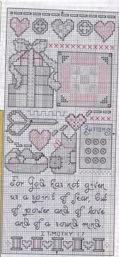 Cross-stitch For God Has, part 2...   Schematic cross stitch Stitchers Sampler 02