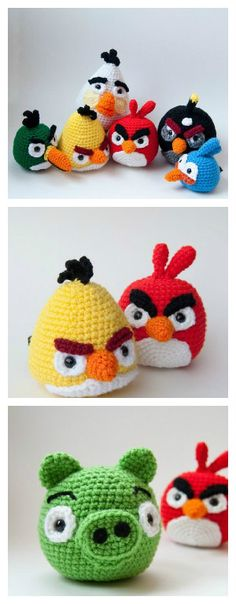 Amigurumi Crochet Website's down, but use this as inspiration! Perfect for Erika, Hunter, RaeRae. and the rest of them! - If you're like us, you felled in love with the Angry Birds game. So we can only adore these crocheted …