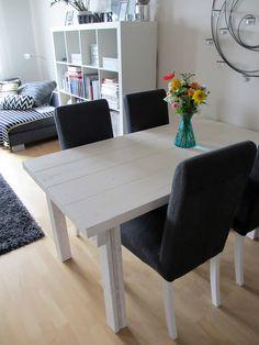 in the spotlight of style: Itse tehty lankkupöytä!