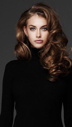 Yulia Rose, fashion model, black t-shirt, wallpaper Beautiful Girl Image, Beautiful Eyes, Girl Face, Woman Face, Yulia Rose, Face Photography, Pretty Face, Hair Inspiration, Beauty Women