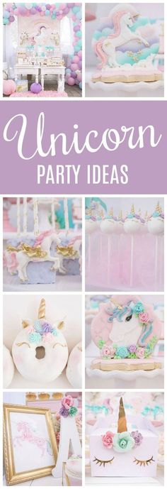 Pretty Pastel Unicorn Birthday Party featured on Pretty My Party #unicornpartyideas #unicornparty #unicornbirthday #unicornparty