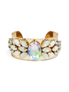 Shop:: Angel Wings Cuff | Expose your angelic or rebellious side with this blingy cuff.