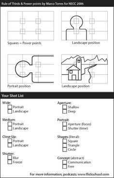 Photography Cheat Sheets - lots of them!