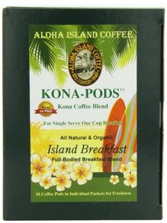 Aloha Island Coffee KONA-POD, Island Breakfast Med Light Roast, Kona & Hawaiian Coffee Blend,18-Count Coffee Pods - http://thecoffeepod.biz/aloha-island-coffee-kona-pod-island-breakfast-med-light-roast-kona-hawaiian-coffee-blend18-count-coffee-pods/