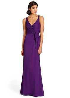 Alluring Chiffon V-neck Natural Waistline Floor-length A-line Bridesmaid Dress