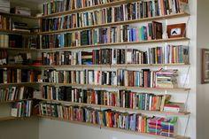 Hanging Bookcase Amazing Design With Bookshelves Diy Hanging Bookshelves Hanging Bookshelves Design Hanging Wall Mounted Bookshelves, Book Shelves, Book Storage, Wall Shelves, Dyi Bookshelves, Diy Bookshelf Wall, Diy Shelving, Hanging Shelves, Bookcases