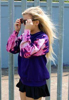 Bubblegum tie dye dip acid wash grunge 90s