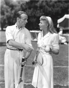 Fred Astaire and Ginger Rogers in 'The Barkleys of Broadway' (1949). This was their last film together, made ten years after 'The Story of Vernon and Irene Castle.'