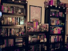 "owlmybooks: "" I finished rearranging my room and my bookshelves! shelves look pretty damn good if I do say so myself  """