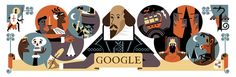 4/23/16  Google Doodle celebrates Shakespeare and St George's Day - on the 400th anniversary of his death.