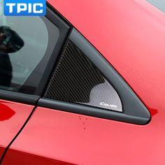 Buy For Chevrolet Cruze Carbon Fiber Rear Window Triangle Sticker Panel Cover Cruze Accessories Decoration Chevrolet Cruze, Rear Window, Car Stickers, Carbon Fiber, Decorative Accessories, Triangle, Windows, Decoration, Cover