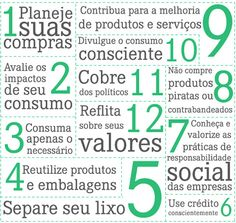12 Princípios do consumo consciente