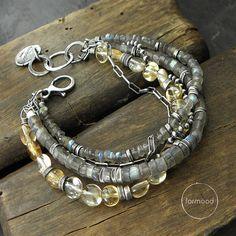 Bracelet++labradorite+citrine+by+studioformood+on+Etsy
