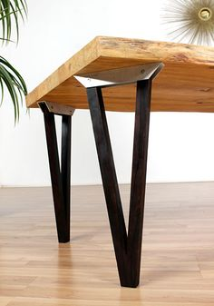 - Home Decoraiton Wood Table Legs, Metal Dining Table, Square Dining Tables, Iron Table, Rustic Table, Welded Furniture, Eco Furniture, Esstisch Design, Wood Table Design