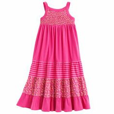 Mudd Floral and Striped Tiered Maxi Dress - Girls 4-6x