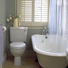 Privacy and light are big issues when choosing bathroom window treatments. Natural light is really important in a small space, but bathroom windows need some serious cover-up. Click below for 8 solutions for bathroom windows, whether you rent or you're planning a renovation...